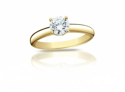 zlatý prsten s diamantem 0.366ct F/VS2 s IGI certifikátem