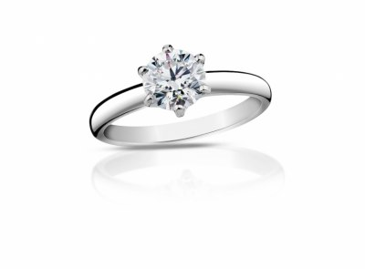 zlatý prsten s diamantem 0.39ct K/VVS2 s HRD certifikátem