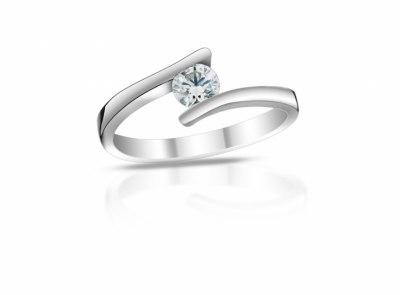 zlatý prsten s diamantem 0.40ct D/SI1 s GIA certifikátem