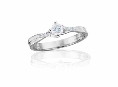 zlatý prsten s diamantem 0.40ct D/SI2 s GIA certifikátem