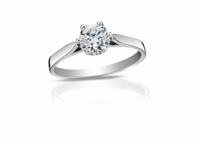 zlatý prsten s diamantem 0.40ct E/SI1 s GIA certifikátem