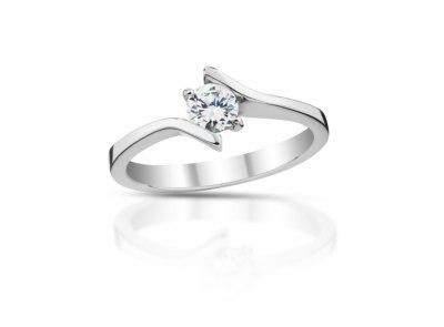 zlatý prsten s diamantem 0.41ct G/VS1 s GIA certifikátem