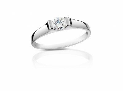 zlatý prsten s diamantem 0.42ct E/VVS1 s GIA certifikátem