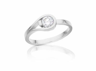 zlatý prsten s diamantem 0.45ct F/VS1 s HRD certifikátem