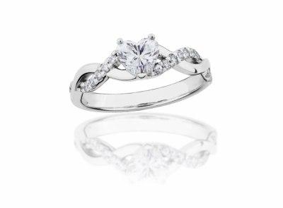 zlatý prsten s diamantem 0.50ct E/VS1 s GIA certifikátem