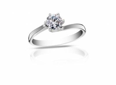zlatý prsten s diamantem 0.51ct D/VS2 s GIA certifikátem