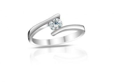 zlatý prsten s diamantem 0.51ct F/VS2 s IGI certifikátem