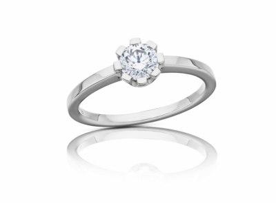 zlatý prsten s diamantem 0.52ct E/VS1 s IGI certifikátem