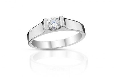 zlatý prsten s diamantem 0.52ct J/SI2 s HRD certifikátem
