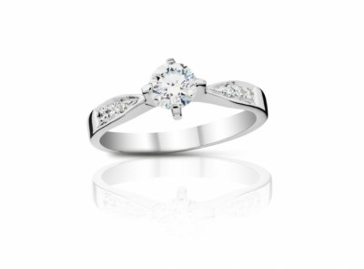 zlatý prsten s diamantem 0.55ct D/SI2 s HRD certifikátem