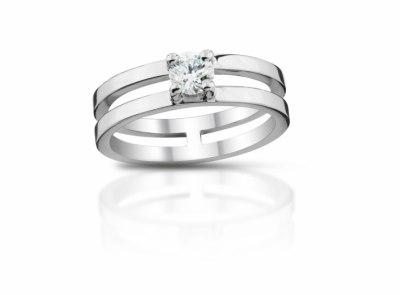 zlatý prsten s diamantem 0.55ct G/SI1 s GIA certifikátem