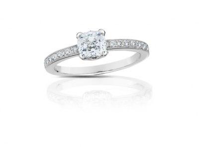 zlatý prsten s diamantem 0.71ct F/SI1 s GIA certifikátem