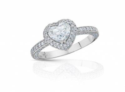 zlatý prsten s diamantem 0.96ct H/SI1 s GIA certifikátem (celkem 1.90ct)