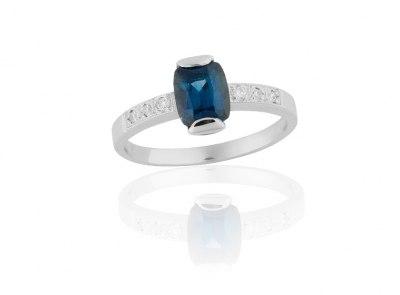 zlatý prsten se safírem 1.25ct s certifikátem IGI