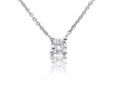 zlatý řetízek s diamantem 0.43ct F/VVS2 s GIA certifikátem