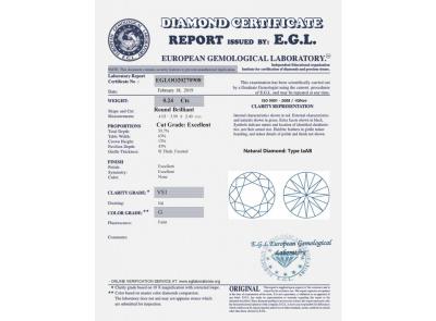 6c04c1ca0 zlaté náušnice 0.48ct G/VS1 s EGL certifikáty | VVDiamonds