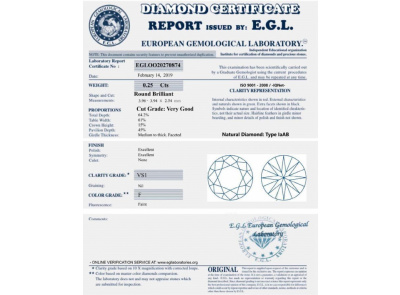 e981cf34b zlaté náušnice 0.50ct F/VS1 s EGL certifikáty | VVDiamonds