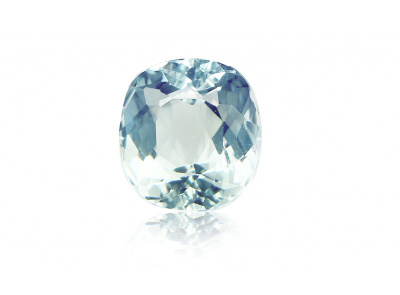 akvamarín 11.55ct light greenish blue s IGI certifikátem