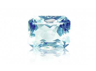 akvamarín 16.73ct light greenish blue s IGI certifikátem
