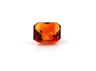 citrín 10.81ct deep orange s IGI certifikátem