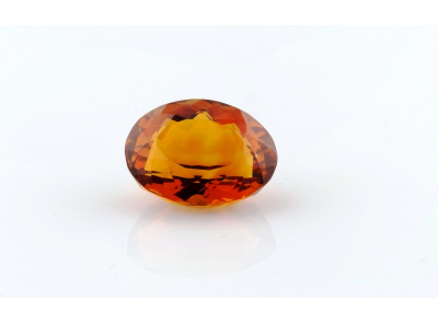 citrín 13.10ct deep orange s IGI certifikátem