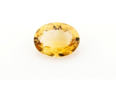 citrín 13.83ct orangy yellow s IGI certifikátem
