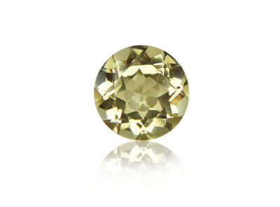 citrín 18.87ct greenish yellow s IGI certifikátem