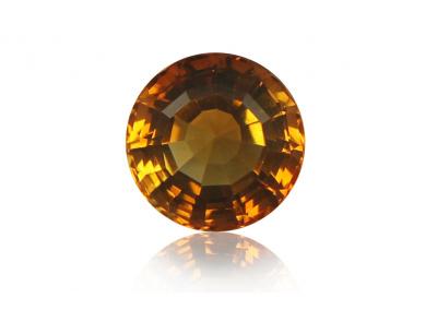 citrín 7.09ct yellowish orange s IGI certifikátem