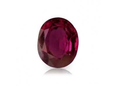 rubín 2.10ct purplish pink-red (tepelně neupraven) s IGI certifikátem