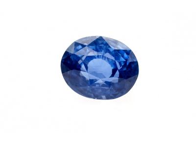 safír 3.18ct blue (tepelně neupraven) s GIA certifikátem
