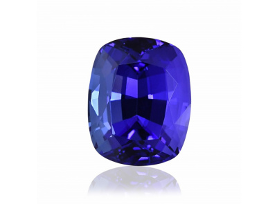 tanzanit 4.87ct blue s GWLAB certifikátem