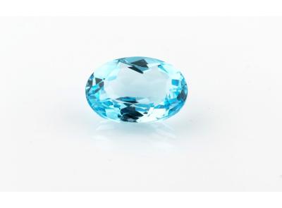 topaz 15.99ct blue s IGI certifikátem