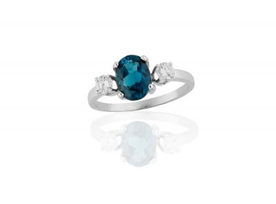 zlatý prsten s topazem 1.50ct s certifikátem IGI