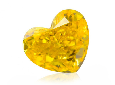 0.27ct Fancy Vivid Orangy Yellow/SI2 s GIA certifikátem