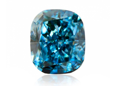 0.13ct Fancy Intense Green-Blue/VS2 s GIA certifikátem