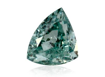 0.21ct Fancy Vivid Bluish Green/SI1 s GIA certifikátem