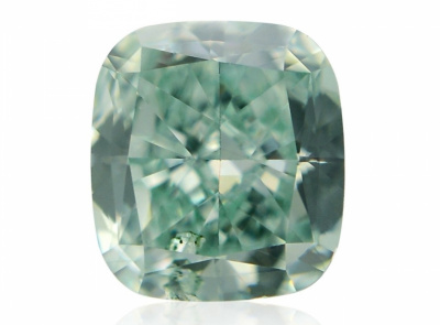 0.31ct Fancy Intense Bluish Green/SI2 s GIA certifikátem