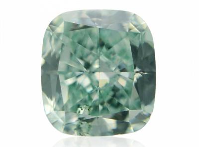 0.31ct Fancy Intense Bluish Green/SI2 s GIA certifikátem