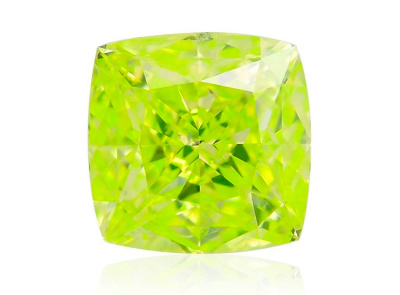 0.73ct Fancy Intense Green-Yellow/SI1 s GIA certifikátem