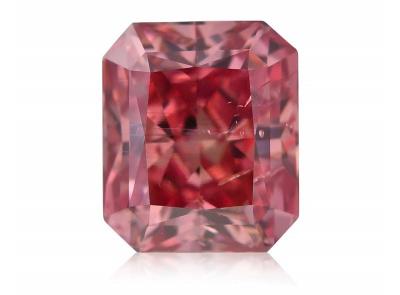 0.80ct 3PR (Fancy Deep Pink)/I1 s ARG certifikátem