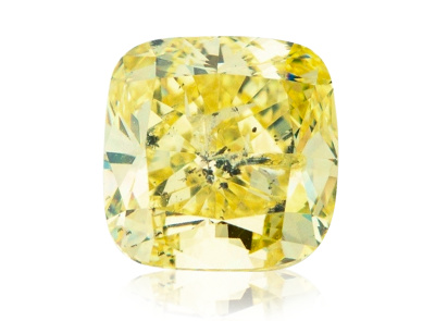 2.06ct Fancy Intense Yellow/(I1) s GIA certifikátem