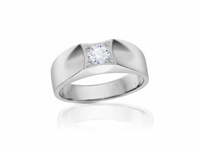 pánský zlatý prsten s diamantem 0.50ct H/SI1 s GIA certifikátem