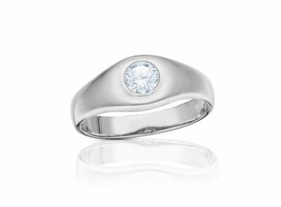 pánský zlatý prsten s diamantem 0.70ct G/SI1 s IGI certifikátem