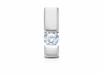 zlatý přívěsek s diamantem 0.152ct F/VS1 s IGI certifikátem
