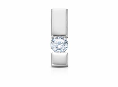 zlatý přívěsek s diamantem 0.158ct D/SI2 s IGI certifikátem