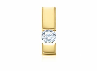 zlatý přívěsek s diamantem 0.15ct H/VS2 s EGL certifikátem