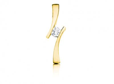 zlatý přívěsek s diamantem 0.15ct H/VVS2 s EGL certifikátem