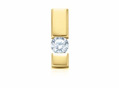 zlatý přívěsek s diamantem 0.15ct I/VS2 s IGI certifikátem