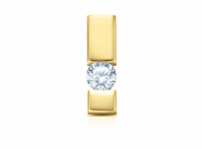 zlatý přívěsek s diamantem 0.15ct I/VVS2 s IGI certifikátem