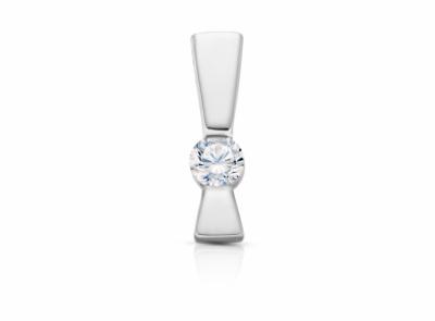 zlatý přívěsek s diamantem 0.19ct G/VVS2 s EGL certifikátem